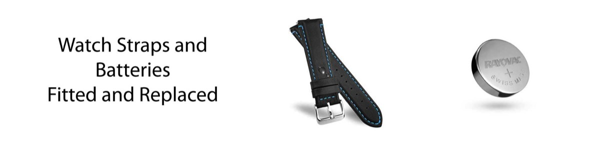 We supply watch straps and batteries